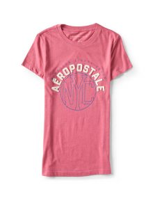 T-Shirt NYC Circle Graphic Pink