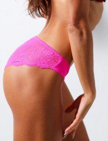 Panties Brief Back Lace Shock Pink
