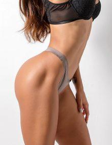 Thong Seamless Comfort Shiny Grey
