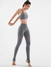 Yoga Legging Neo Mesh Panel Grey