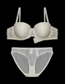 Bra Set Rheto Balconette Fishnet Ivory White