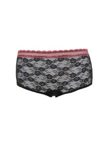 Panty Valentine Secret Lace Sabine Pink Black