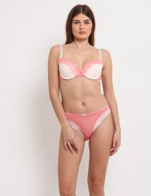 Bra Set Rheto Lace Soft Orange Pink