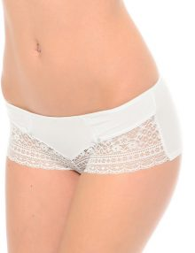 Hipster Viania Half Lace With Bow Ivory White