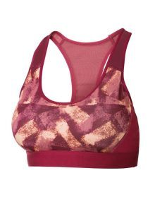 Sports Bra Crivit Medium Support Abstract Print Red