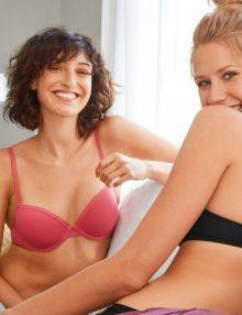 Bra Set Esmara Comfort Pad With Back Lace Panties Peach