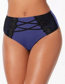 Thong INC High Waist Lace Blue