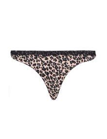 Thong Soft Pink Leopard Prints