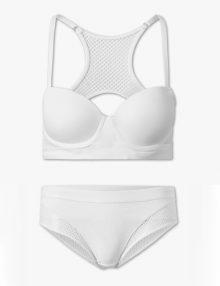 Bra Set C&A Lingerie Balconette Net White
