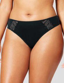 Thong Plus Size Edge Sheer Black