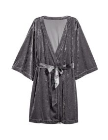 Kimono Velvet Robe Grey