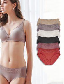 Brief Cotton Vivien Rosebud Middle Lace