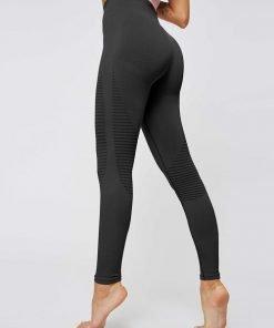 Sports Legging High Impact Striped Black