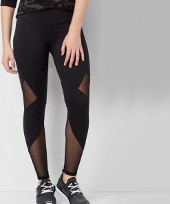 Leggings Active Maurices Mesh Inlay Black