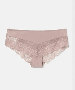 Hipster C&A Half Flower Lace Dusty Rose